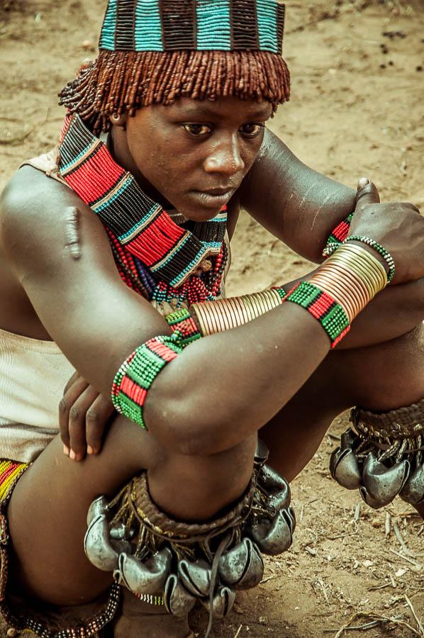 Mujer Hamer en Etiopia