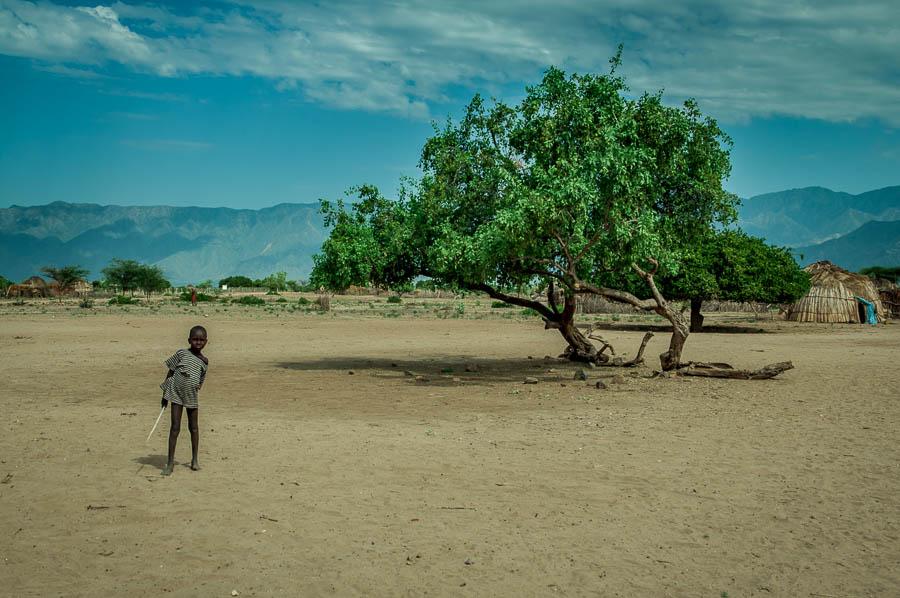 Poblado de la tribu Arbore, Etiopía