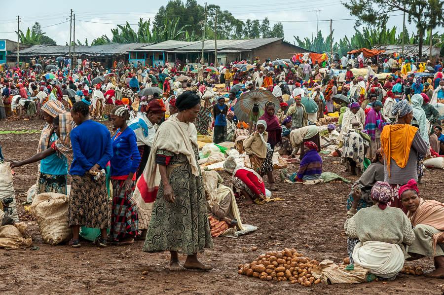 Dorze market en Etiopía