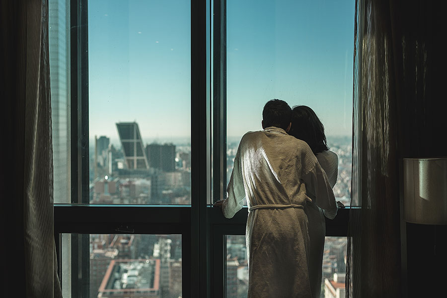 Regalo San Valentín. Vistas de Madrid desde las cuatro torres de Madrid, Hotel Eurostars