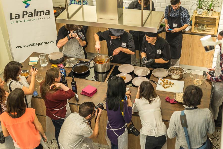 La Palma con sabor, espacio cocina en Madrid