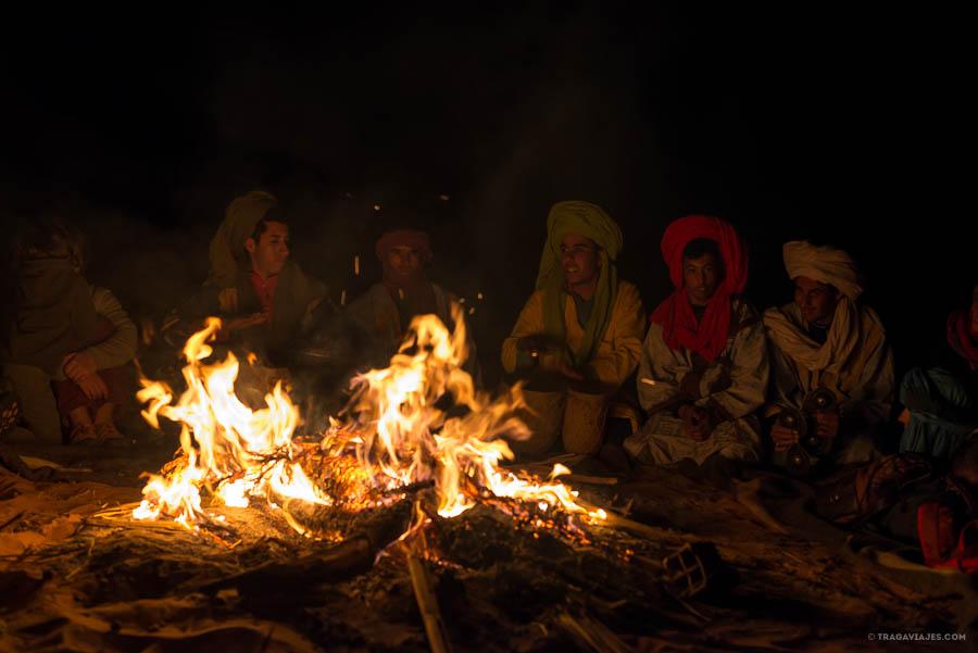 Campamento bereber en el desierto de Merzouga