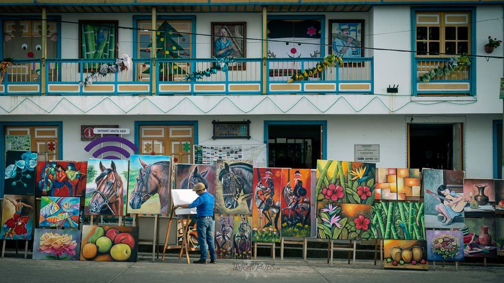 Pueblo de Filandia en Colombia