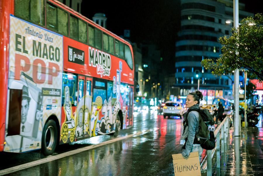 Filipina apunto de emprender su viaje soñado a Filipinas