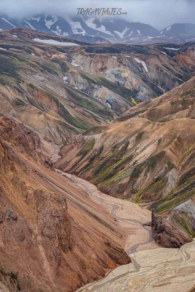 Highlands Islandia ruta 8 días - Montañas de riolita
