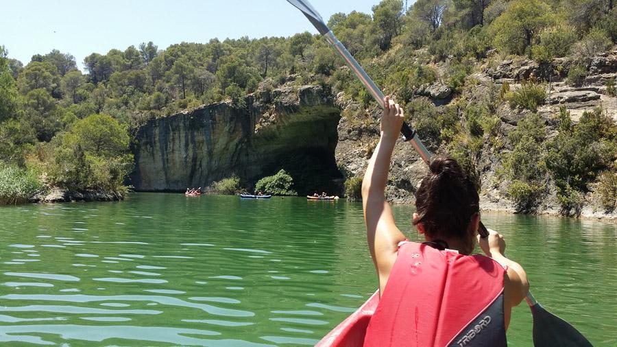 En Kayak hacía la cueva de las tortugas