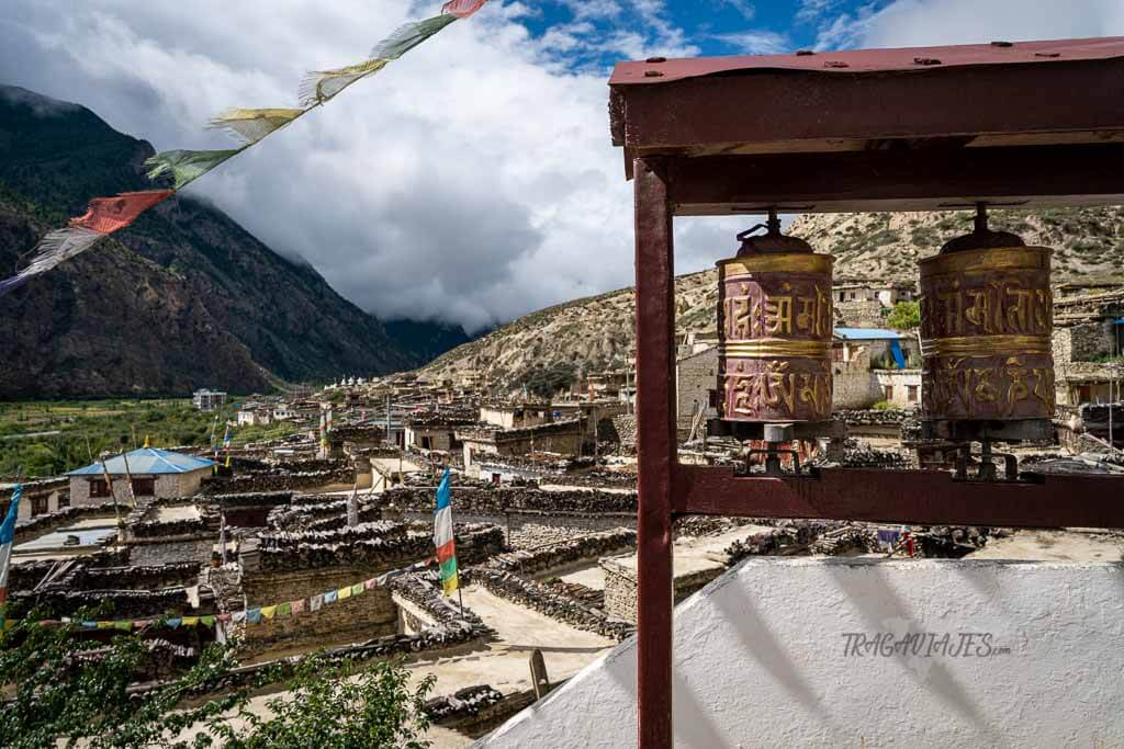 Lower Mustang Nepal - Vista de Marpha desde el monasterio