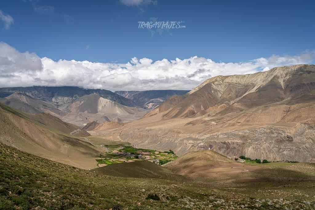 Lower Mustang Nepal - Vistas de camino a Lubra