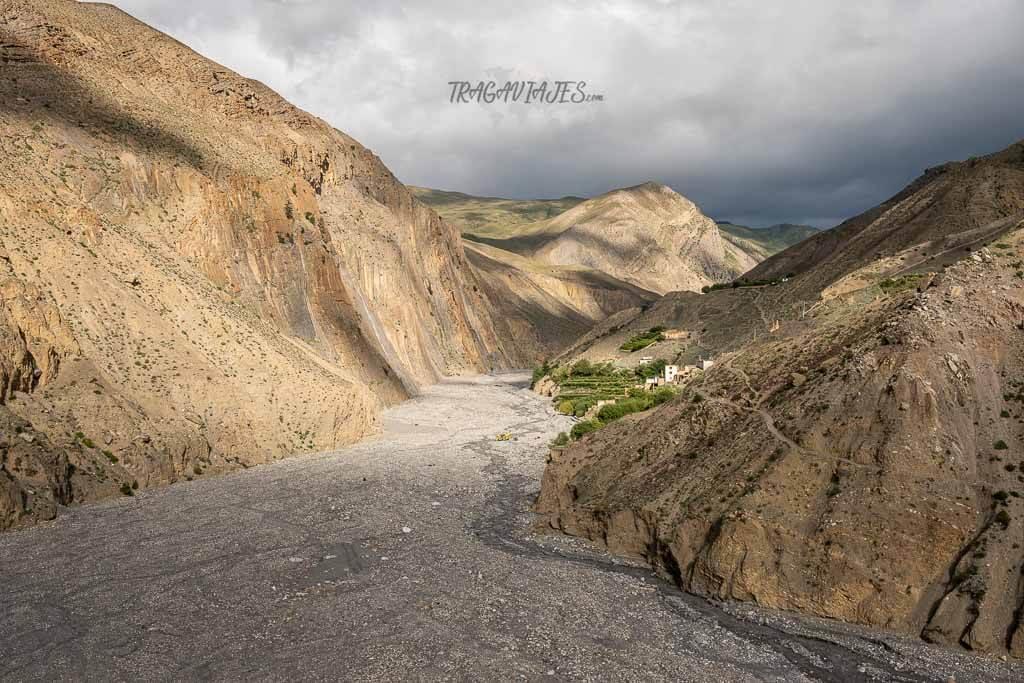 Lower Mustang Nepal - Garganta en Lubra