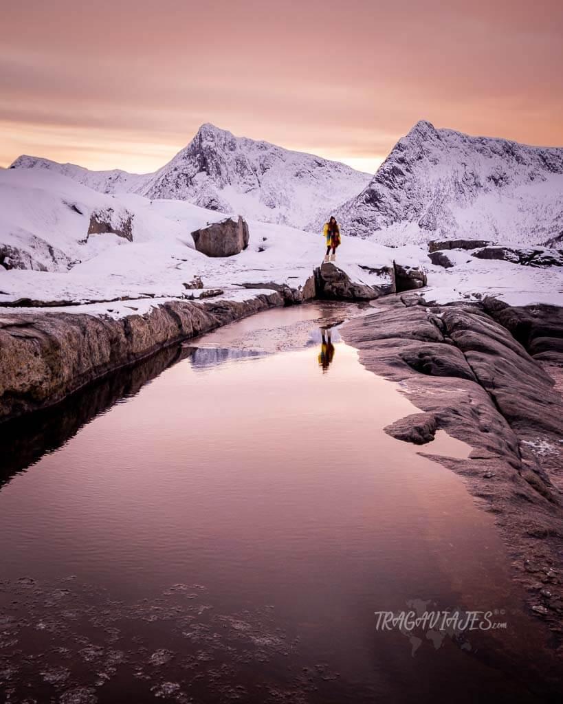 Fotos de Senja en Noruega - Reflejos en Tungeneset