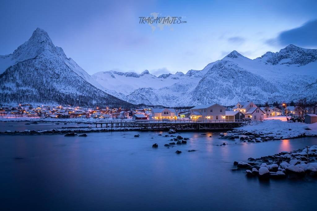 Pueblos más bonitos de Senja - Pueblo de Mefjordvær