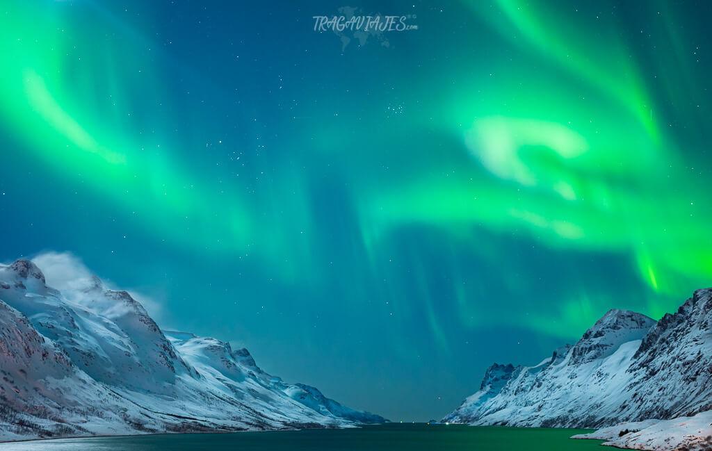 Dónde ver auroras boreales en Tromso - Ersfjordbotn