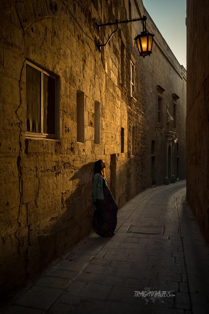 La ciudad medieval de Mdina al atardecer