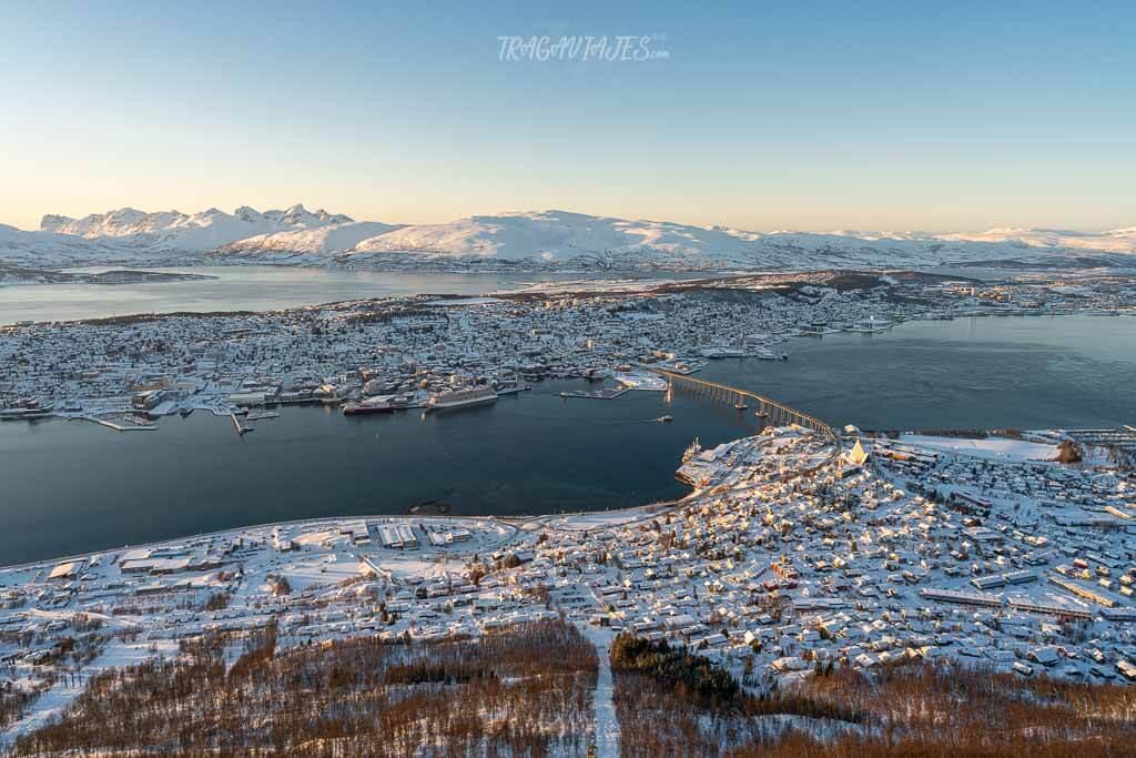 En Tromso no puedes perderte la vista desde la parte alta del teleférico de Fjellheisen