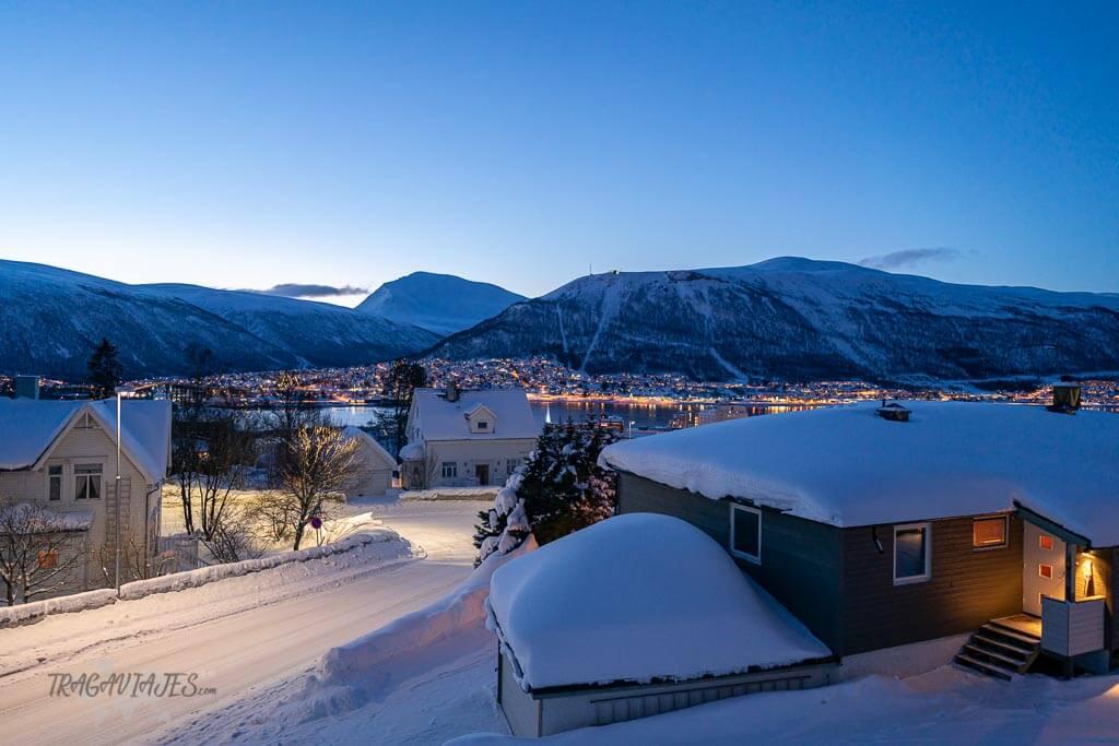 Dónde dormir en Tromso - Vistas desde nuestro alojamiento Bed & waffles