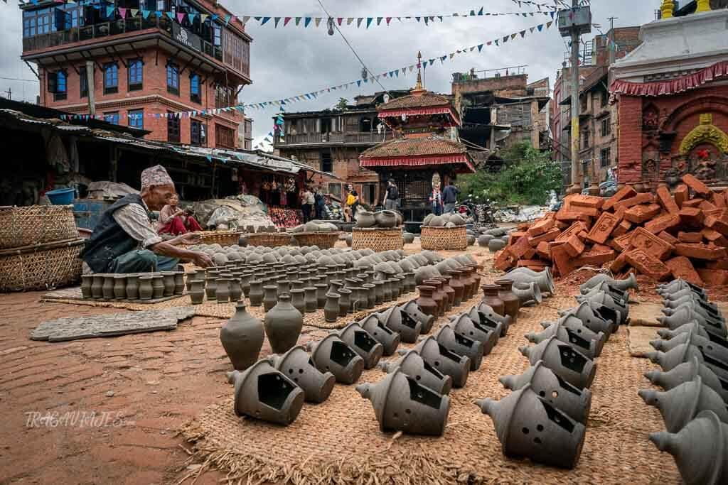 Qué ver en el valle de Katmandú y alrededores - Plaza de las vasijas