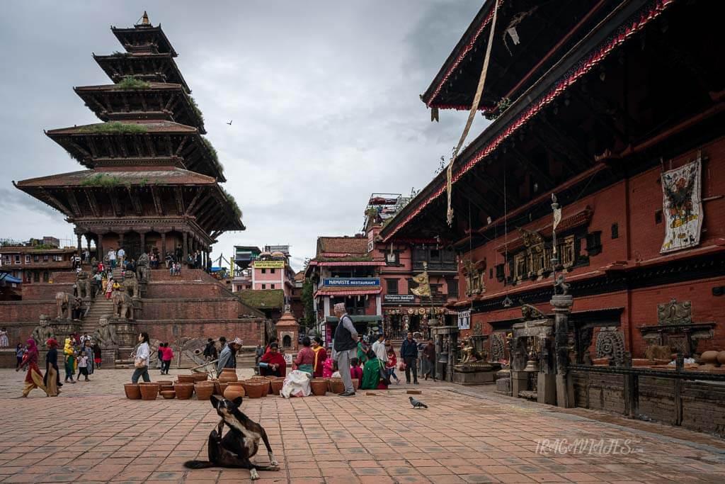 Qué ver en el valle de Katmandú y alrededores - Taumadhi Tole y el templo Nyatapola
