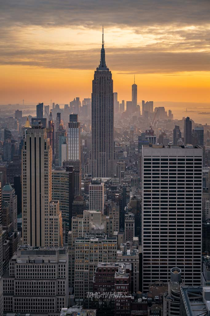 Vistas de Manhattan desde el Top of the Rock al atardecer