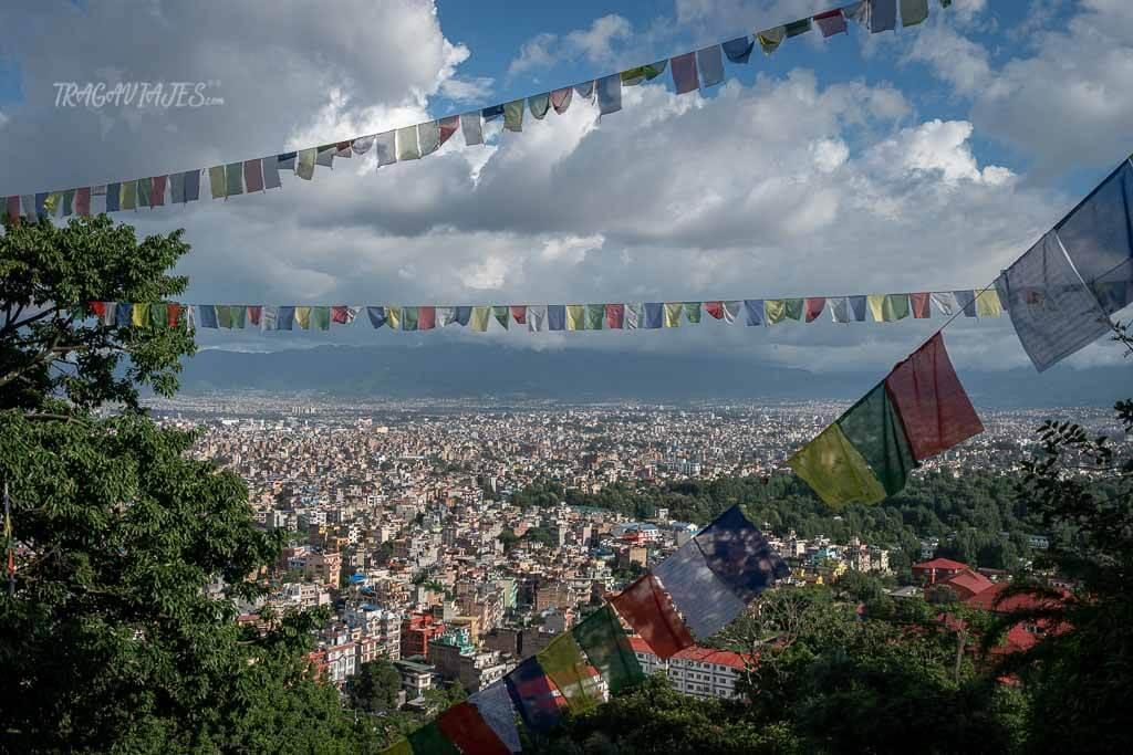 Qué ver en el valle de Katmandú - Vista de Katmandú desde Swayambhunath