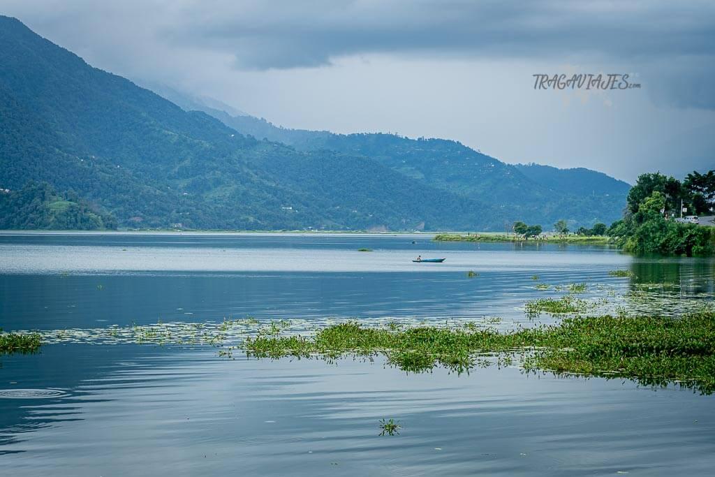 Qué ver y hacer en Pokhara - El lago Phewa desde el Rest Point Cafe