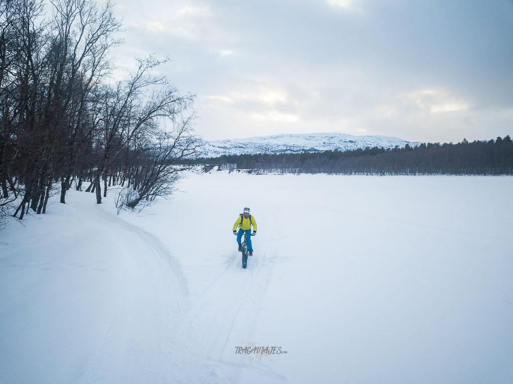 Ruta por Laponia - Realizando Fat bike
