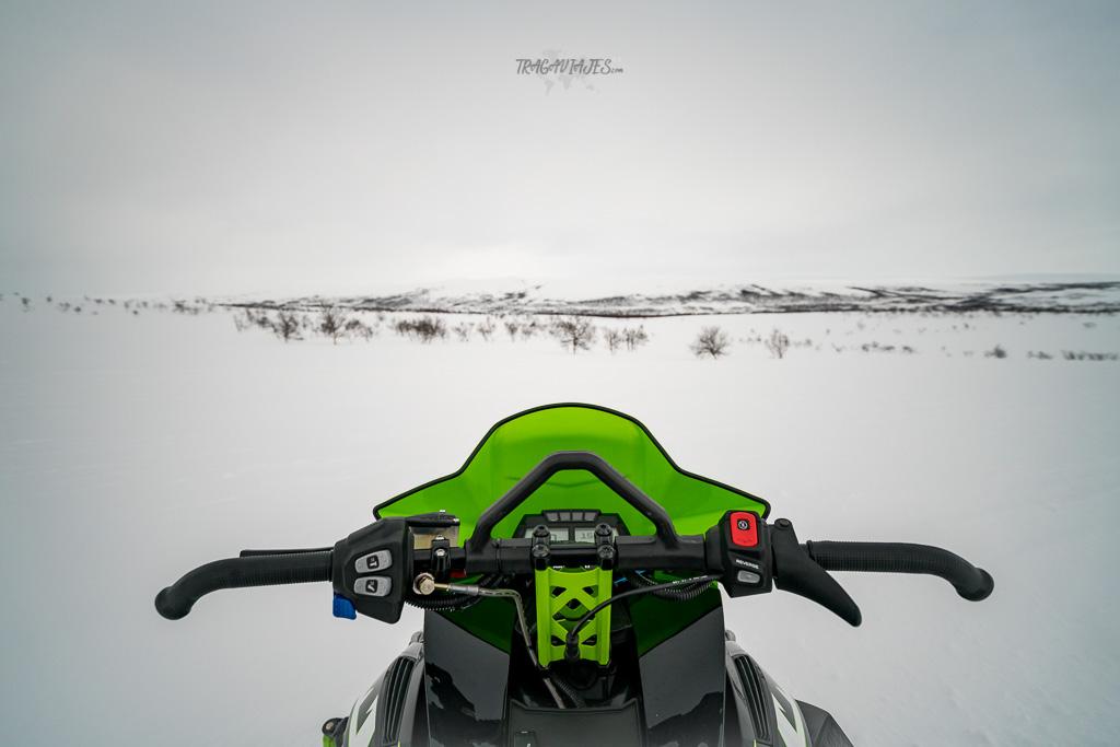 Viaje a Laponia noruega - Ruta en moto de nieve