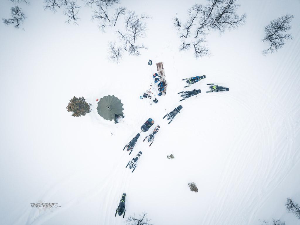 Ruta por Laponia - Ruta en moto de nieve
