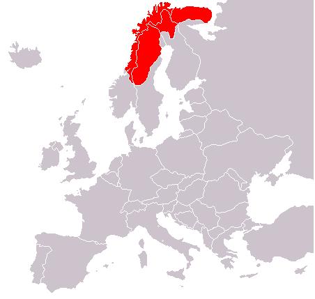 Mapa de Laponia