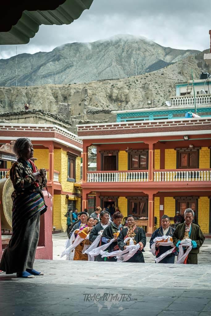 Trekking Lower Mustang - Ceremonia en el monasterio de Kagbeni