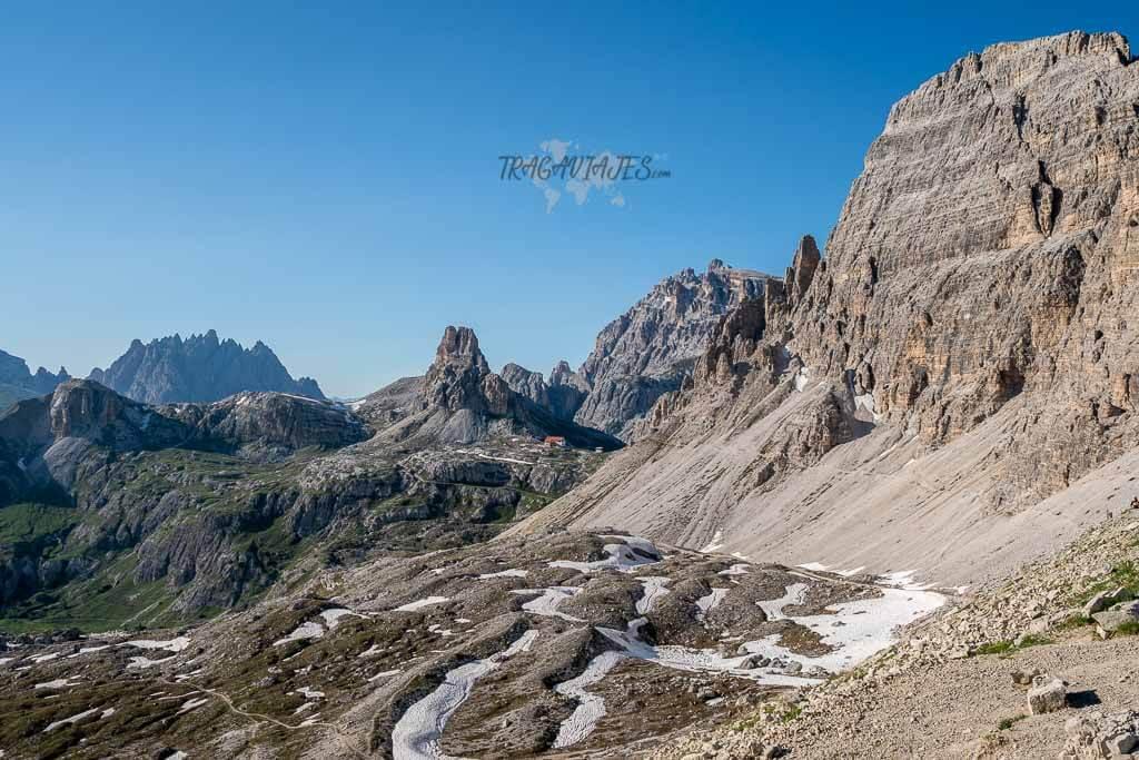 Visitar las Tres Cimas de Lavaredo - Refugio Locatelli desde Forcella Lavaredo