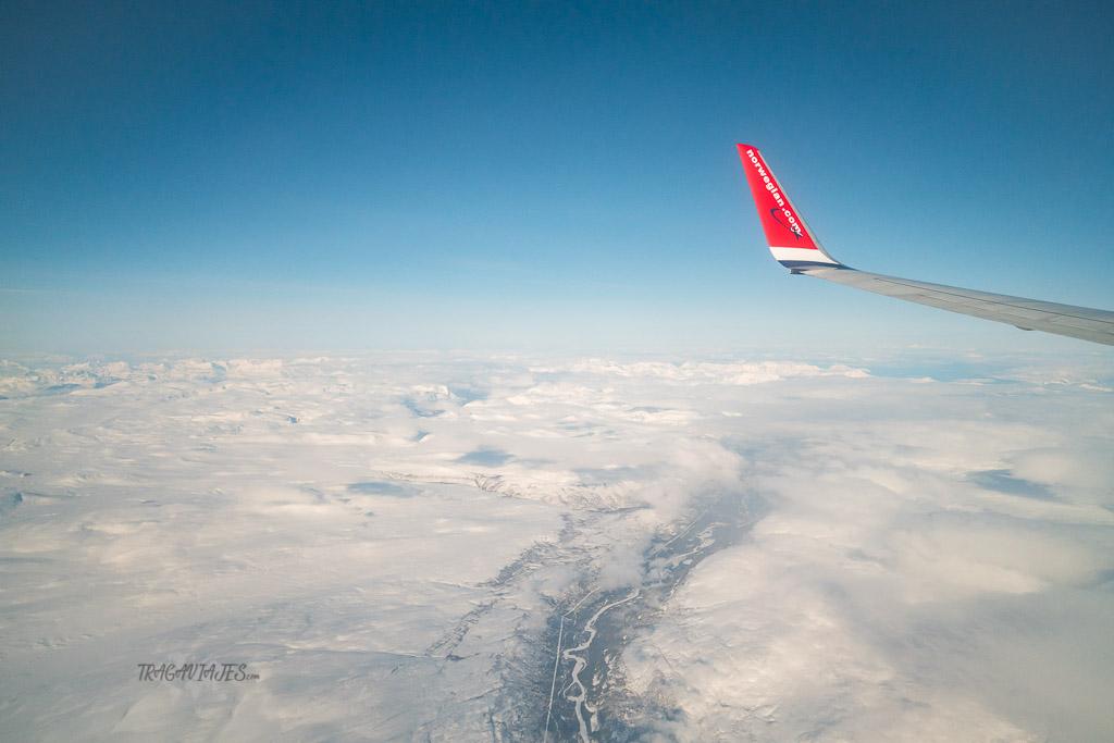 Viaje a Laponia noruega - Laponia noruega desde el avión