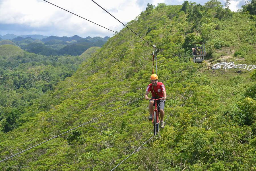 Bicicleta Tirolina, Bohol, Filipinas