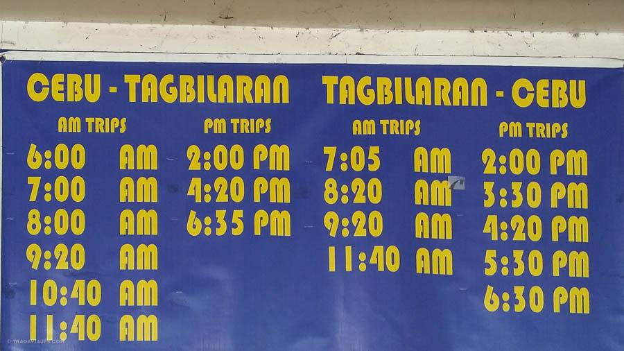 Horarios Ferry cebu-tagbilaran