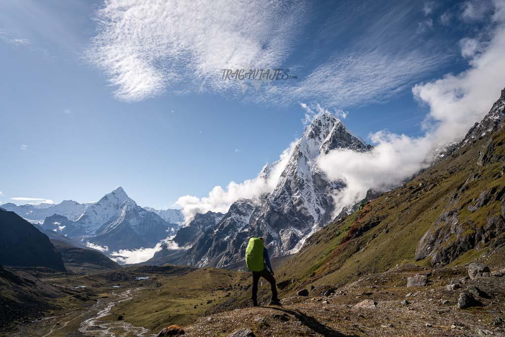 Campo base del Everest y Gokyo - Vista del Ama Dablam y Cholatse