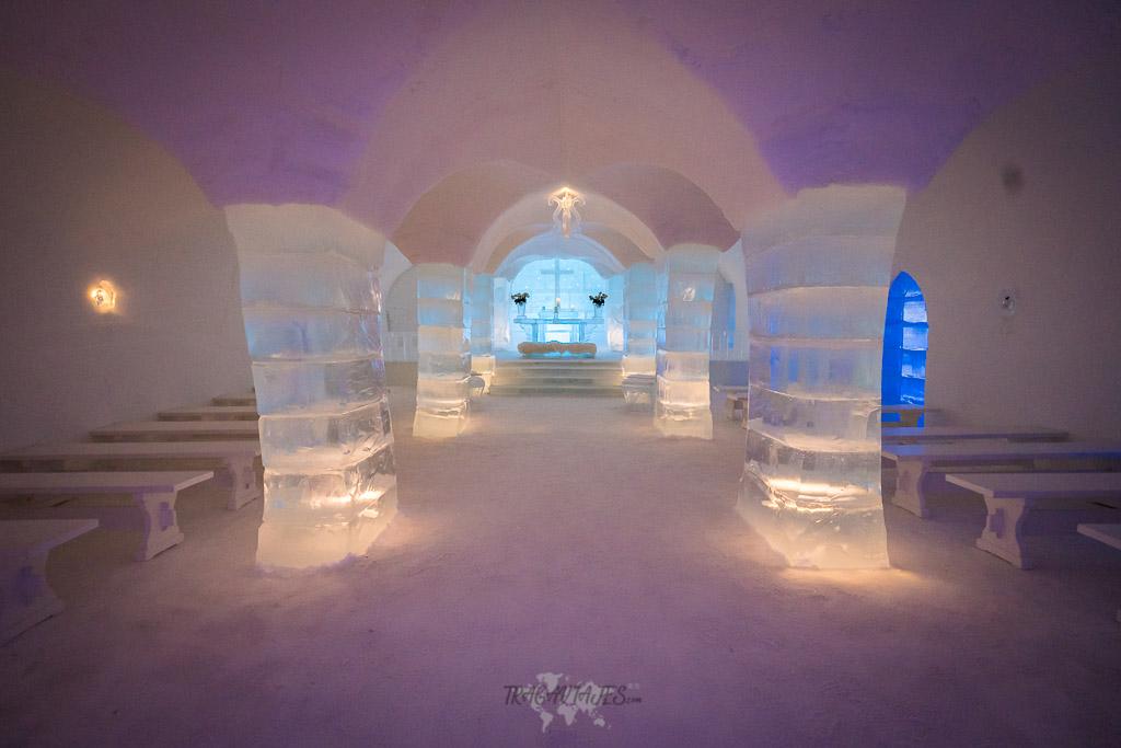 Dormir en un hotel de hielo - Capilla