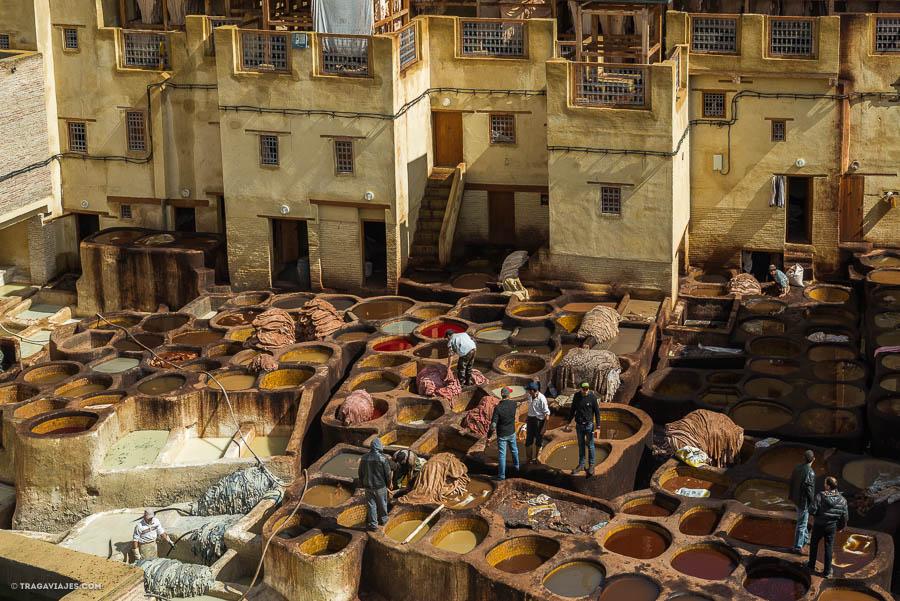 Curtiduría de Fez, Marruecos