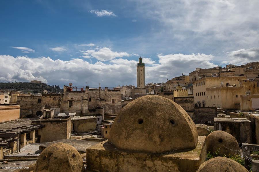 vistas terraza seffarine, Fez, Marruecos