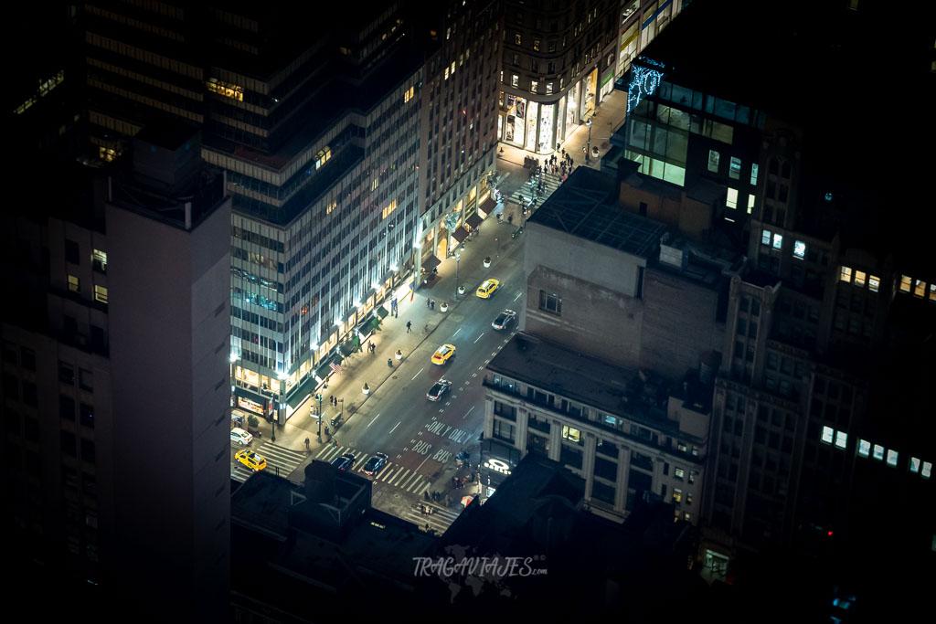 Vista desde el Empire State de noche