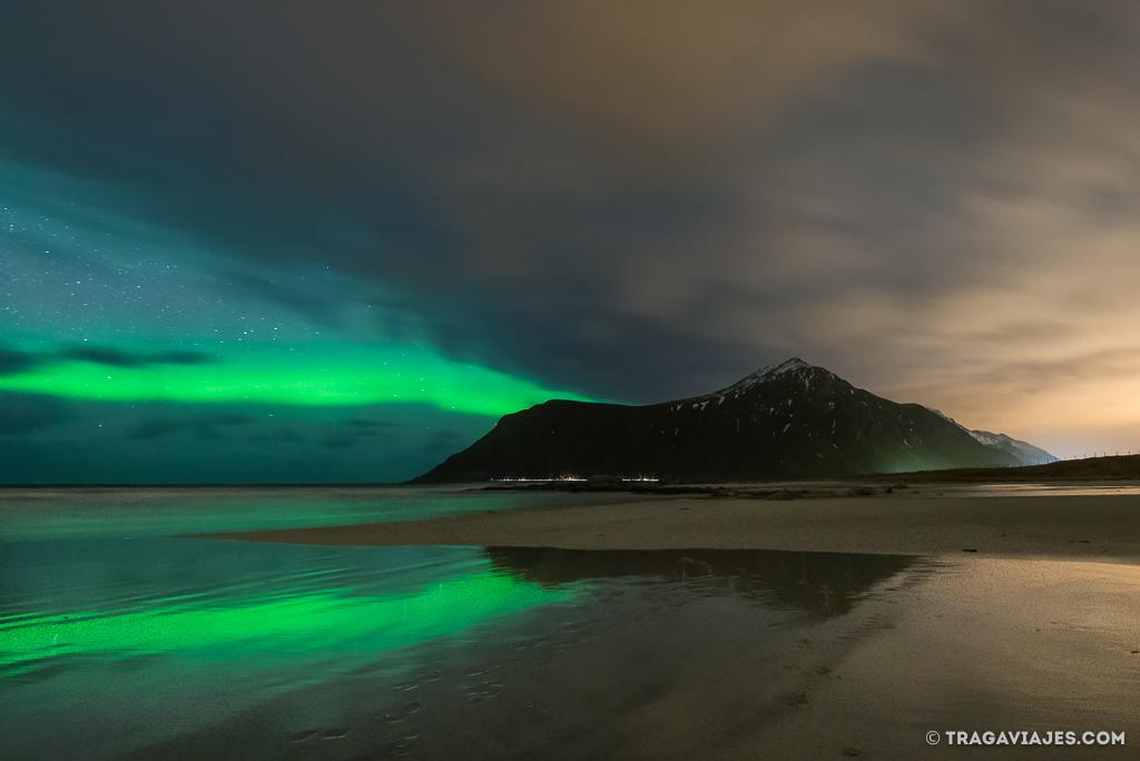 Auroras Boreales en Skagsanden