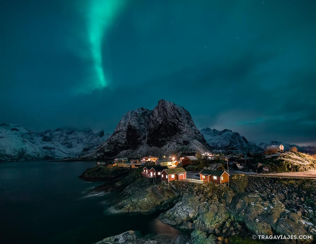 Auroras Boreales en Hamnoy