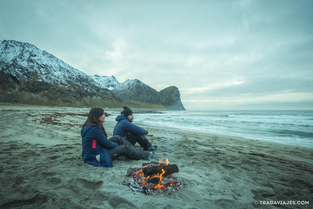 Playas de Lofoten - Unstad beach