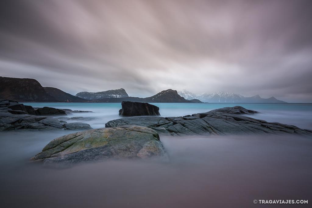 Playas de las islas Lofoten - Haukland beach