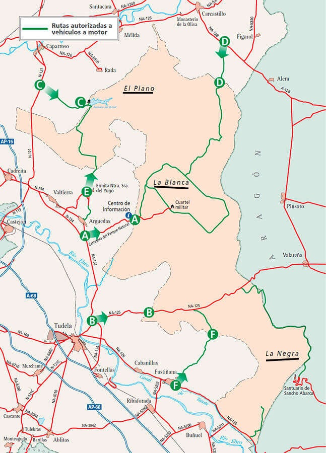 Mapa Bardenas Reales