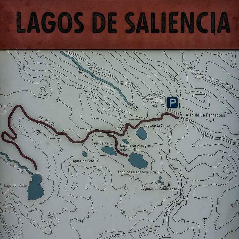 mapa lagos saliencia somiedo