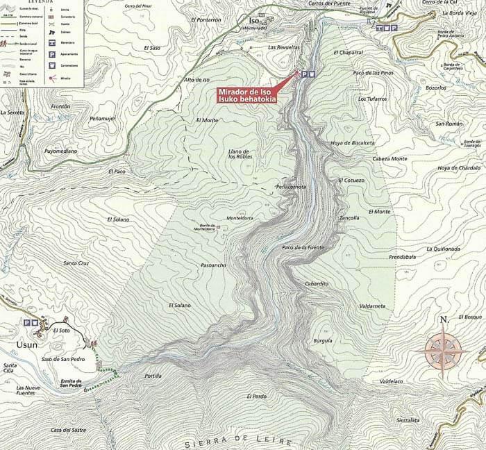 Mapa Foz de Arbayún