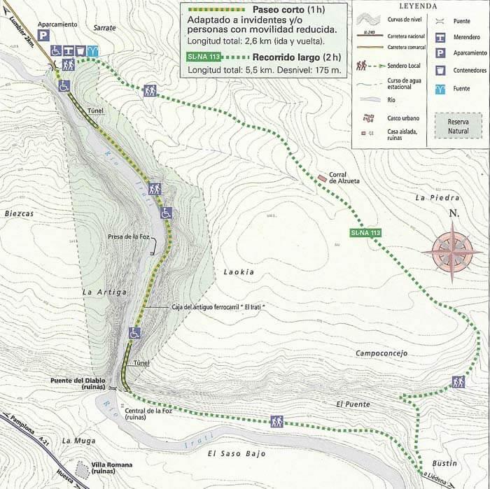 Mapa Foz de Lumbier