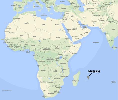 mapa isla mauricio
