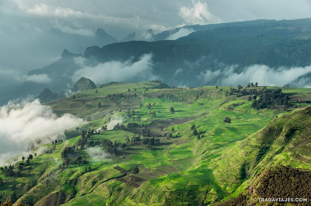 montañas de simien en etiopia