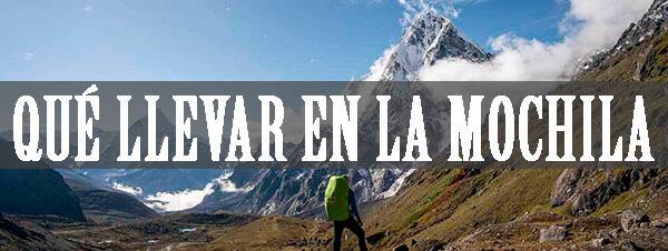 Qué llevar en la mochila trekking Nepal