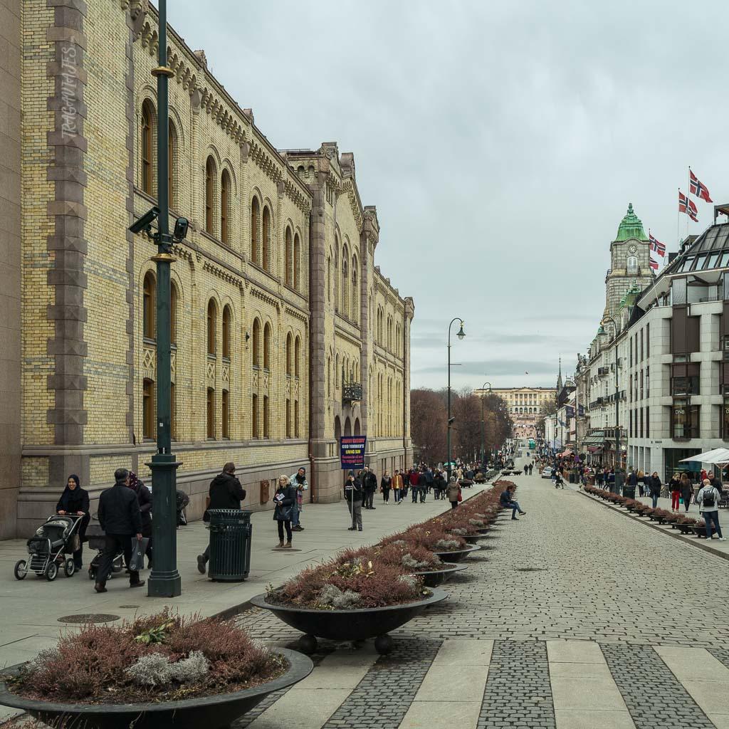 Centro de Oslo - Calle Karl Johans